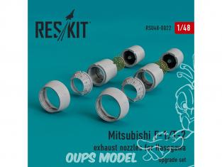 ResKit kit d'amelioration Avion RSU48-0022 Tuyère pour Mitsubishi F-1/T-2 kit Hasegawa 1/48