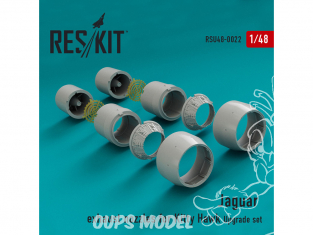 ResKit kit d'amelioration Avion RSU48-0023 Tuyère pour Jaguar kit Kitty Hawk 1/48