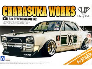 Aoshima maquette voiture 57575 LB Works Charasuka Works Nissan Skyline 2Dr - Liberty Walk 1/24