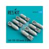 ResKit kit RS72-0137 ZAB-100-105 Bombe (8 pcs) pour SU-7 17 22 24 25 34 Mig-21 27 1/72