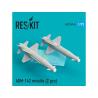 ResKit kit RS72-0145 AGM-142 missile (2 pcs) pour F-4, F-15, F-16 et F-111 1/72