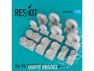 ResKit kit d'amelioration avion RS72-0097 Ensemble de roues pour Su-24 (М/ МR) (Late) 1/72