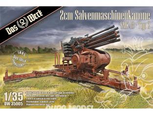 DAS WERK maquette militaire DW35005 2cm Salvenmaschinenkanone SMK 18 - Typ 2 1/35