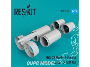 ResKit kit d'amelioration Avion RSU72-0043 Tuyère pour MiG-25 (P, PD, PDS) Foxbat kit ICM 1/72