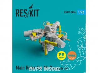 ResKit kit d'amelioration helico RSU72-0004 Ensemble de mise à niveau et de détail du rotor principal Mi-2 1/72