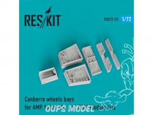 ResKit kit d'amelioration Avion RSU72-0033 Baies de roues Canberra pour modèles AMP, Mikro-Mir et S&M 1/72
