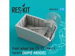 ResKit kit d'amelioration helico RSU72-0010 Baie de roue avant CH-53, MH-53 1/72