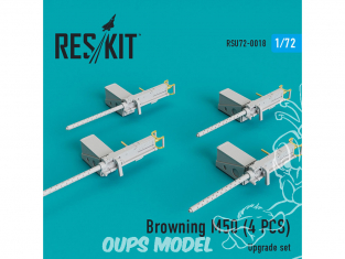 ResKit kit d'amelioration helico RSU72-0018 Browning M50 (4 pcs) 1/72