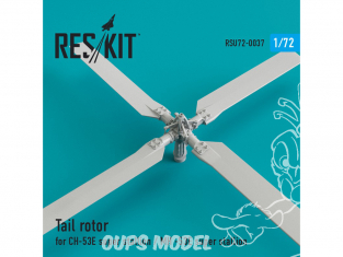 ResKit kit d'amelioration helico RSU72-0037 Rotor de queue pour СH-53E Super Stallion / MH-53E Sea dragon 1/72