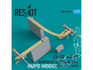 ResKit kit d'amelioration helico RSU72-0011 Ensemble d'armes CH-53, MH-53 (Browning M50) et ceinturon de munitions 1/72