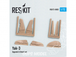 ResKit kit d'amelioration helico RSU72-0003 Yak-3 Upgrade & Detail set Derive, ailerons et Profondeur 1/72