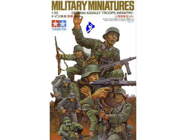 tamiya maquette militaire 35030 troupe d&39assault Allemande 1/