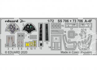 Eduard photodecoupe avion SS706 Zoom amélioration A-4F Hobby Boss 1/72
