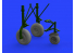 Eduard kit d'amelioration brassin 632149 Roues B-24 Hobby Boss 1/32