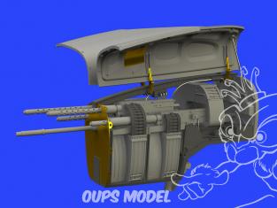 Eduard kit d'amelioration avion brassin 648533 Nose gun bay P-38F/G Lightning Tamiya 1/48