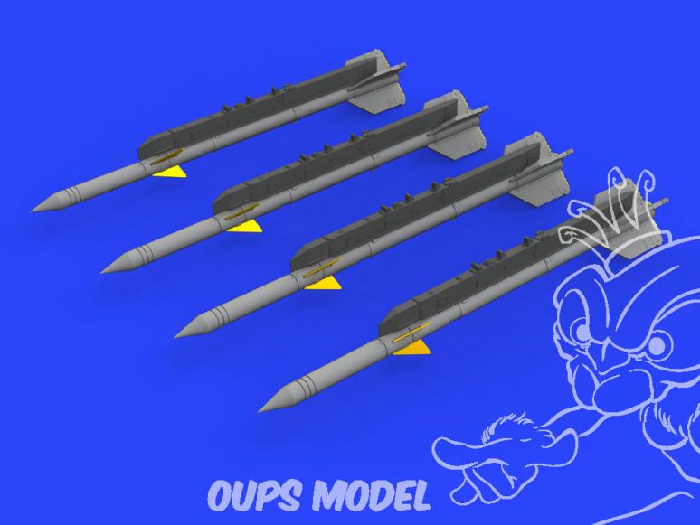 Eduard kit d'amelioration brassin 672237 Missiles R-3R pour MiG-21 Eduard 1/72