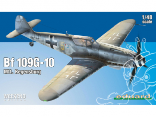 EDUARD maquette avion 84168 Messerschmitt Bf 109G-10 Mtt. Regensburg WeekEnd Edition 1/48