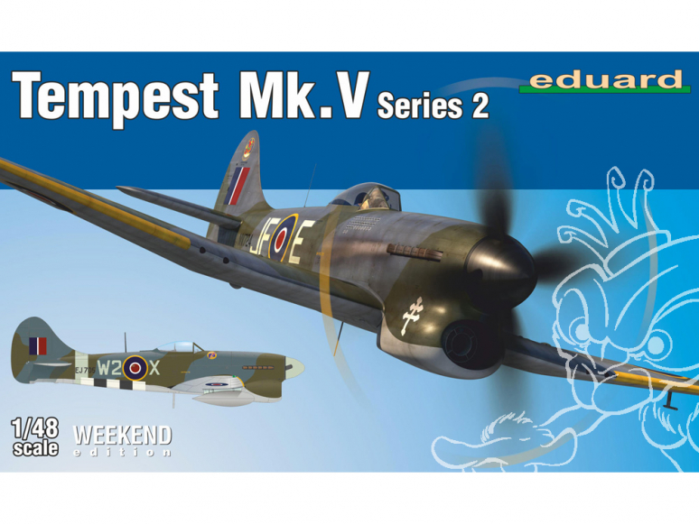 EDUARD maquette avion 84170 Tempest Mk.V Series 2 WeekEnd Edition 1/48