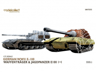 Modelcollect maquette militaire 72332 German WWII E-100 waffentrager et jagdpanzer E-100 1+1 1/72