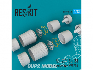 ResKit kit d'amelioration Avion RSU72-0040 Tuyère pour Su-27 et Su-33 kit Zvezda 1/72