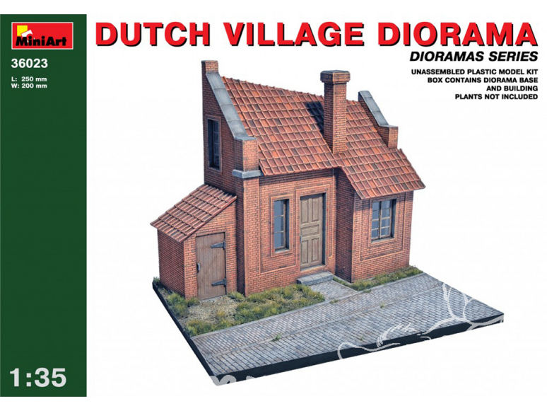 MINI ART maquette militaire 36023 DIORAMA VILLAGE Allemand 1/35