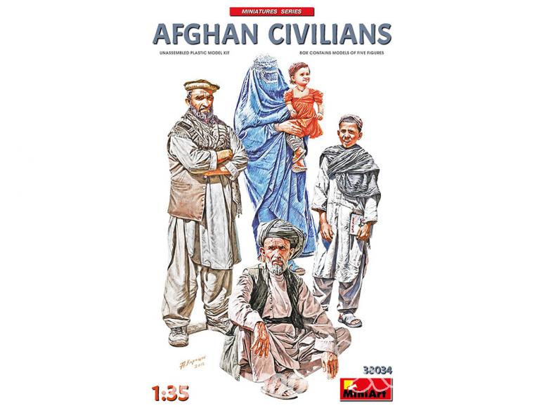 Mini Art maquette militaire 38034 Civils Afghants 1/35