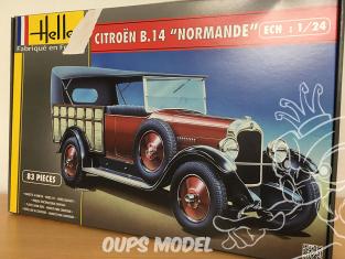 HELLER maquette voiture 80729 Boite Incomplète manque roues et pneus Citroen B14 Normandie 1932 1/24