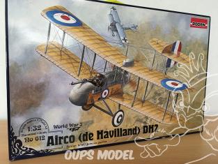 Roden maquettes avion 612 boite incomplete AIRCO DE HAVILLAND DH-2 1/32