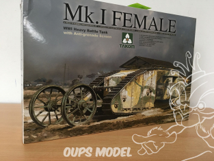 Takom maquette militaire 2033 Boite imcomplète CHAR Mk.I Female PROTECTION ANTI-GRENADES 1/35