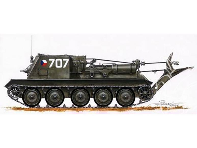 Planet Maquettes Militaire mv041 Véhicule de récupération VT-34 full resine kit 1/72