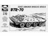 Planet Maquettes Militaire mv002 Véhicule blindé à roues soviétique BTR-70 full resine kit 1/72