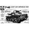 Planet Maquettes Militaire mv001 T-40 Char léger amphibie soviétique full resine kit 1/72
