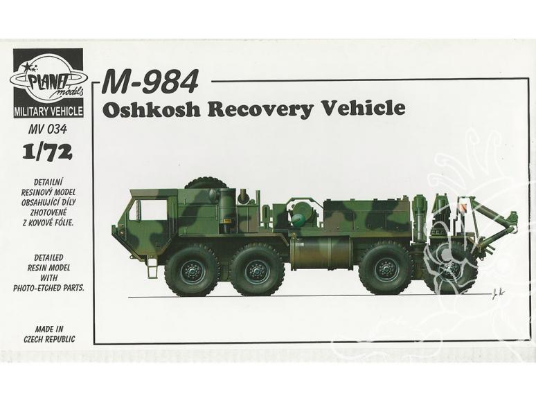 Planet Maquettes Militaire mv034 Véhicules de récupération M 984 Oshkosh full resine kit 1/72