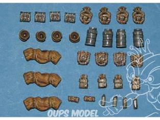 CMK Maquettes molitaire mv057 Set d'équipement allemand WWII 1/72