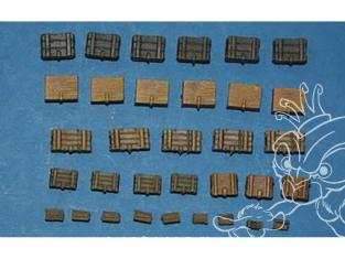 CMK Maquettes molitaire mv056 Boîtes de munitions américaines WWII 1/72