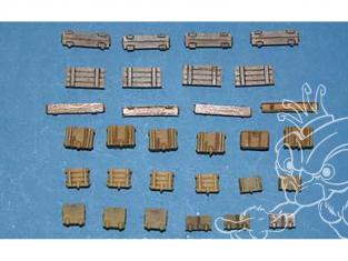 CMK Maquettes molitaire mv055 Boîtes de munitions allemandes WWII 1/72