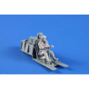 CMK Personnage resine F48361 P-51D Mustang Pilote ETO assis 1/48