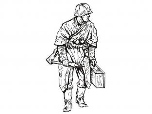 CMK figurine f35214 Chasseur de chars de la Wehrmacht en Marche 1 figurines 1/35