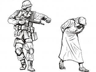CMK figurine f35194 US Ranger et combatant Afghan capturé 2 figurines 1/35