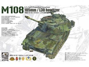 AFV maquette militaire AF35108 M108 105mm/L30 1/35