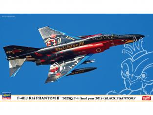 HASEGAWA maquette avion 02302 F-4EJ Kai Super Phantom «302SQ F-4 Final Year 2019 (Black Phantom)» 1/72
