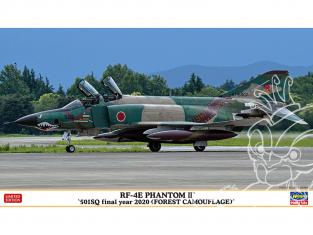 HASEGAWA maquette avion 02318 RF-4E Phantom II «501SQ dernière année 2020 (camouflage forestier)» 1/72