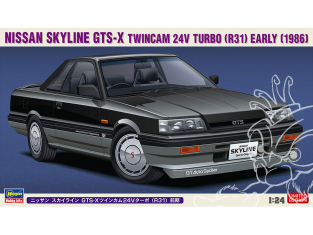Hasegawa maquette voiture 20428 Nissan Skyline GTS-X Twincam 24V Turbo (R31) 1/24