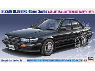 Hasegawa maquette voiture 21133 Nissan Bluebird berline 4 portes SSS Athesa Limited (type U12) 1/24