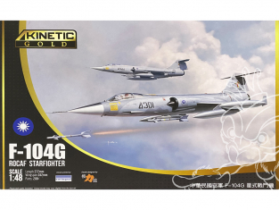 Kinetic maquette avion K48077 F-104G ROCAF Starfighter edition Gold 1/48