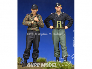 Alpine figurine 35274 Set ensemble WSS Équipage Panzer (2 figurines) 1/35