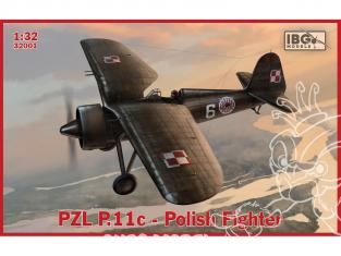 IBG maquette avion 32001 Avion Polonais PZL P.11c 1/32