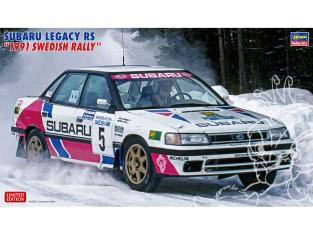 Hasegawa maquette voiture 20432 Subaru Legacy RS «Rallye de Suède de 1991» 1/24
