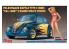 Hasegawa maquette voiture 52245 Volkswagen Beetle (1966) «Cal Look» avec figurine de fille Blonde 1/24