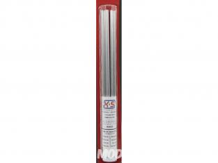 K&S 3403 Tube rond Auminium 1/16, 3/32, 1/8, 5/32, 3/16, 7/32, 1/4, 9/32 8piéces